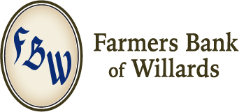 The Farmers Bank of Willards logo
