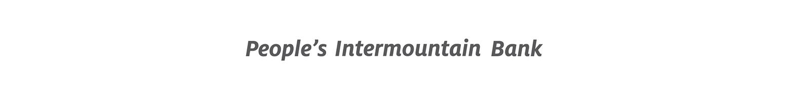 People's Intermountain Bank logo