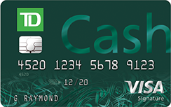 TD Cash Visa Credit Card