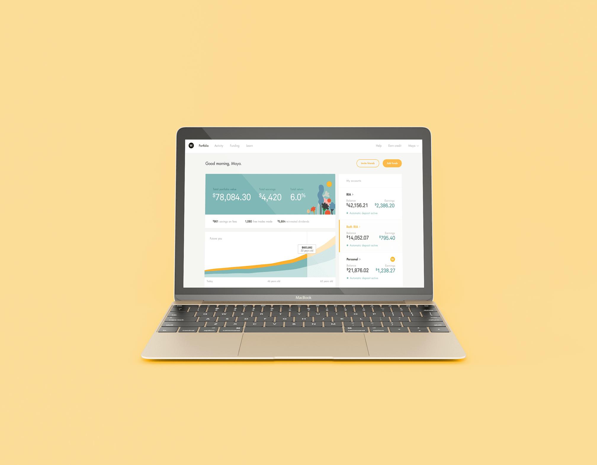 Wealthsimple US Dashboard Desktop