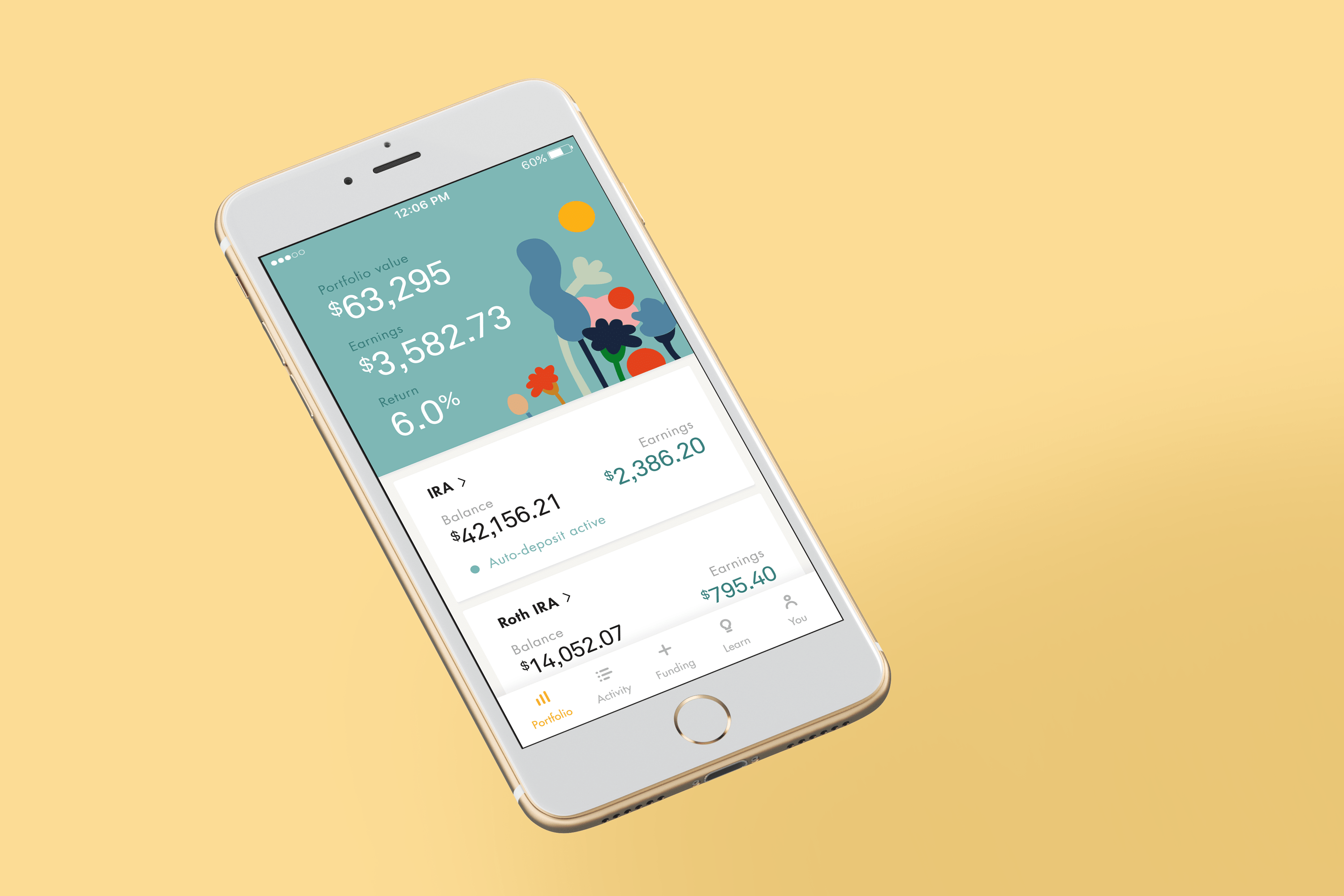 Wealthsimple US Dashboard Mobile