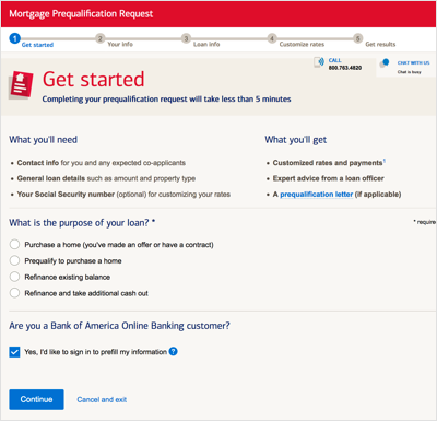 bank of america mortgage loans for bad credit